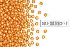 Icone di vettore 3D Cryptocurrency Bitcoin Immagini Stock