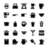 Icone 4 di vettore degli utensili della cucina Fotografie Stock Libere da Diritti