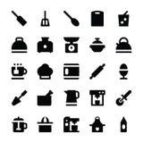 Icone 5 di vettore degli utensili della cucina Fotografie Stock