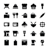 Icone 1 di vettore degli utensili della cucina Immagini Stock Libere da Diritti