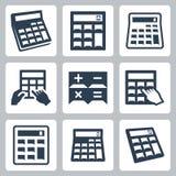Icone di vettore dei calcolatori royalty illustrazione gratis