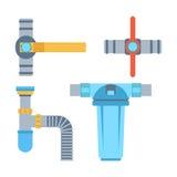 Icone di vettore dei tubi isolate Fotografia Stock Libera da Diritti