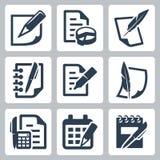 Icone di vettore del documento cartaceo Immagine Stock