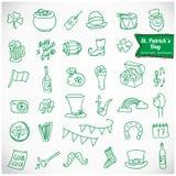 Icone di vettore del giorno di St Patrick Royalty Illustrazione gratis