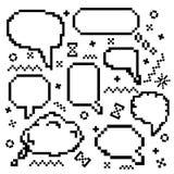 Icone di vettore del pixel messe Immagine Stock Libera da Diritti