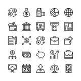 Icone 5 di vettore del profilo di finanza e contare Immagine Stock
