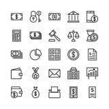 Icone 1 di vettore del profilo di finanza e contare Fotografie Stock
