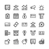 Icone 2 di vettore del profilo di finanza e contare Immagini Stock Libere da Diritti