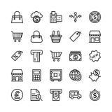 Icone 4 di vettore del profilo di finanza e contare Immagine Stock Libera da Diritti