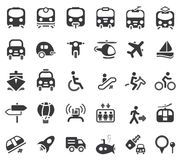 Icone di vettore del trasporto Immagine Stock Libera da Diritti
