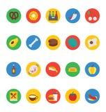 Icone 11 di vettore dell'alimento Fotografia Stock