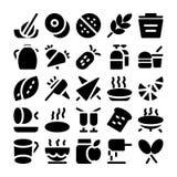 Icone 6 di vettore dell'alimento Fotografia Stock