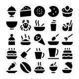 Icone 13 di vettore dell'alimento Fotografie Stock Libere da Diritti