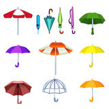 Icone di vettore dell'ombrello Fotografia Stock