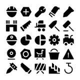 Icone 11 di vettore della costruzione Fotografia Stock Libera da Diritti