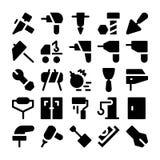 Icone 5 di vettore della costruzione Fotografia Stock