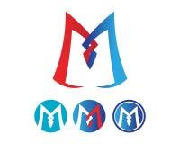Icone di vettore della lettera m. tale logos Immagini Stock Libere da Diritti
