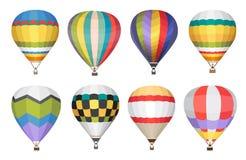 Icone di vettore della mongolfiera messe Fotografie Stock Libere da Diritti