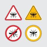 Icone di vettore della zanzara messe Immagini Stock Libere da Diritti