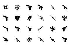 Icone 3 di vettore delle armi Fotografia Stock Libera da Diritti
