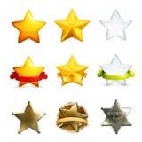 Icone di vettore delle stelle illustrazione di stock