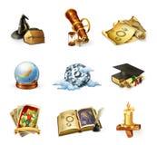 Icone di vettore di astrologia Immagine Stock