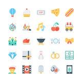Icone 6 di vettore di celebrazione e del partito illustrazione di stock
