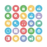 Icone 2 di vettore di comunicazione Fotografie Stock
