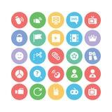 Icone 7 di vettore di comunicazione Fotografie Stock Libere da Diritti