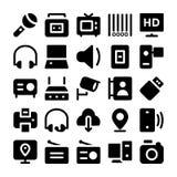 Icone 10 di vettore di comunicazione Fotografie Stock