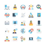 Icone 6 di vettore di comunicazioni e della rete illustrazione vettoriale