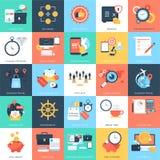 Icone 10 di vettore di concetti di affari Immagine Stock