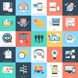 Icone 8 di vettore di concetti di affari Fotografia Stock