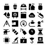 Icone 7 di vettore di consegna di logistica Immagini Stock