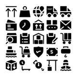 Icone 8 di vettore di consegna di logistica Immagine Stock Libera da Diritti