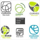 Icone di vettore di curvatura illustrazione di stock