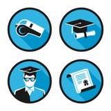 Icone di vettore di istruzione Immagini Stock Libere da Diritti