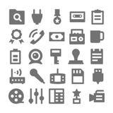 Icone 3 di vettore di media e di pubblicità Fotografia Stock