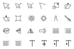 Icone 4 di vettore di sviluppo e di Art Design illustrazione di stock
