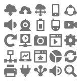 Icone 2 di vettore di tecnologia di rete Fotografia Stock