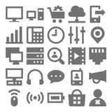 Icone 3 di vettore di tecnologia di rete Fotografia Stock Libera da Diritti