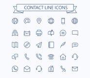 Icone di vettore di trasporto messe Linea sottile griglia del profilo 24x24 Pixel perfetto Fotografia Stock Libera da Diritti