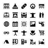 Icone 11 di vettore di viaggio e di turismo Fotografia Stock