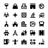 Icone 9 di vettore di viaggio e di turismo Immagine Stock Libera da Diritti