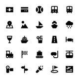 Icone 4 di vettore di viaggio e di turismo Fotografia Stock Libera da Diritti