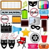 Icone di vettore: Dramma, intrattenimento, pellicola, film illustrazione di stock