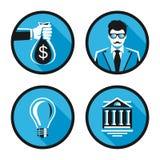 Icone di vettore per il web e l'applicazione del cellulare Immagini Stock Libere da Diritti