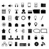 49 icone di vettore per l'affare o Internet. Fotografia Stock
