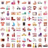 Icone di vettore su fondo bianco Fotografie Stock Libere da Diritti