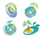 Icone di viaggio Immagini Stock